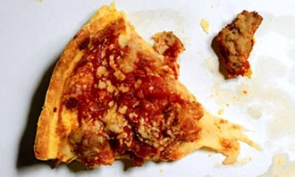 Fresh from Mr. Greasy Pizza's Pie Shack. Yum!