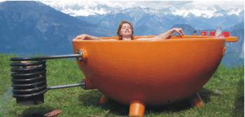 Hot Tub Heaven - of course you don't look stupid!