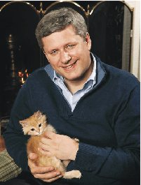 Stephen Harper - sorry girls, he's married!