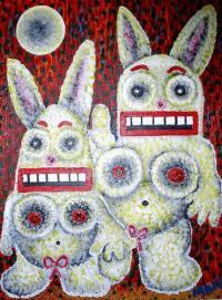 Rabbits... teeth... erm...