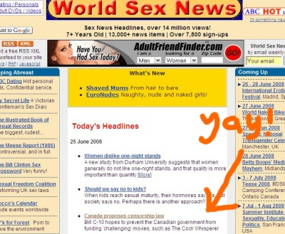 World Sex News breaking story!