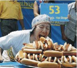 Writer's block? Blame hot dog eating competitions.