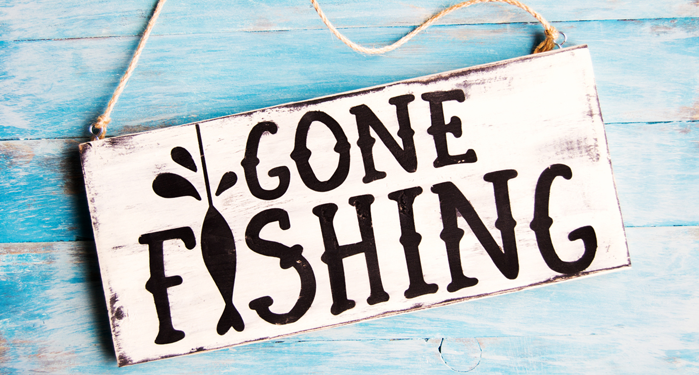 Meat beat gone fishin tiggyblog for Is today a good day to go fishing